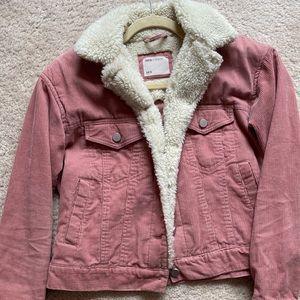 Pink corduroy jean jacket !